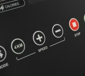 CARBON FITNESS T320 Беговая дорожка - Консоль с клавишами быстрого доступа