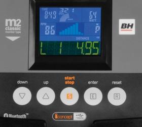 BH FITNESS NLS12 DUAL Эллиптический тренажер - LCD монитор M2
