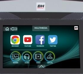 BH FITNESS F8 TFT Беговая дорожка - Полностью настраиваемый софт