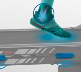 BH FITNESS I.F8 DUAL Беговая дорожка - Система амортизации, сокращающая нагрузку на суставы