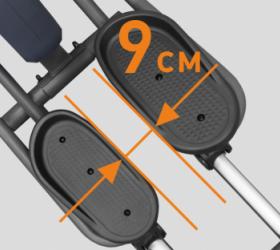 APPLEGATE X42 A Эллиптический тренажер - СУПЕРМАЛЫЙ Q-ФАКТОР E.S.Q.F.™ (9 СМ)