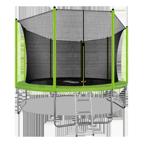 ARLAND Батут 12FT с внутренней страховочной сеткой и лестницей (Light green) №1