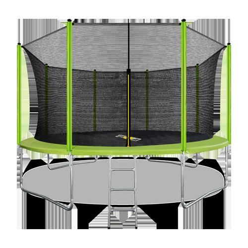 ARLAND Батут 14FT с внутренней страховочной сеткой и лестницей (Light green) №1