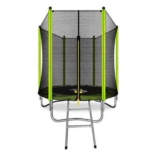 ARLAND Батут  6FT с внешней страховочной сеткой и лестницей (Light green) №1