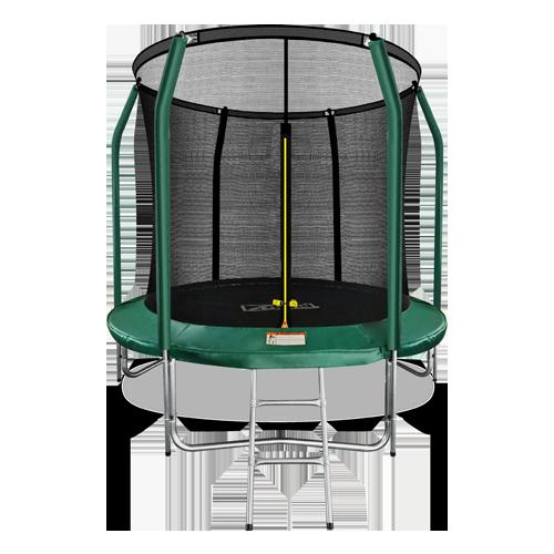 ARLAND Батут премиум 8FT с внутренней страховочной сеткой и лестницей (Dark green) №1