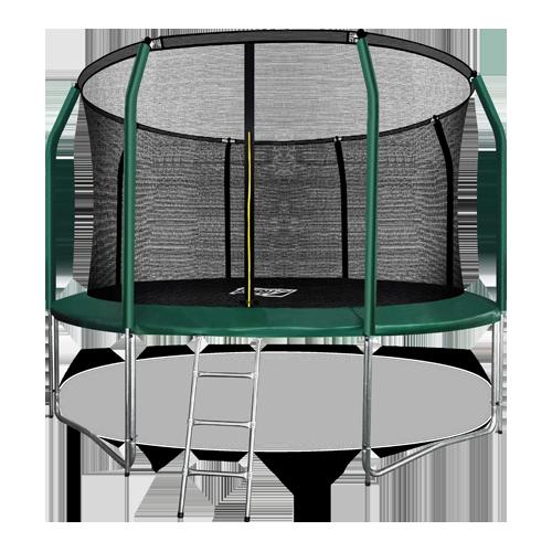 ARLAND Батут премиум 12FT с внутренней страховочной сеткой и лестницей (Dark green) №1