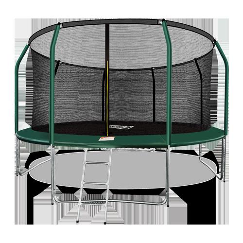 ARLAND Батут премиум 14FT с внутренней страховочной сеткой и лестницей (Dark green) №1