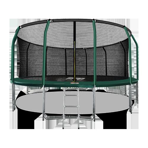 ARLAND Батут премиум 16FT с внутренней страховочной сеткой и лестницей (Dark green) №1