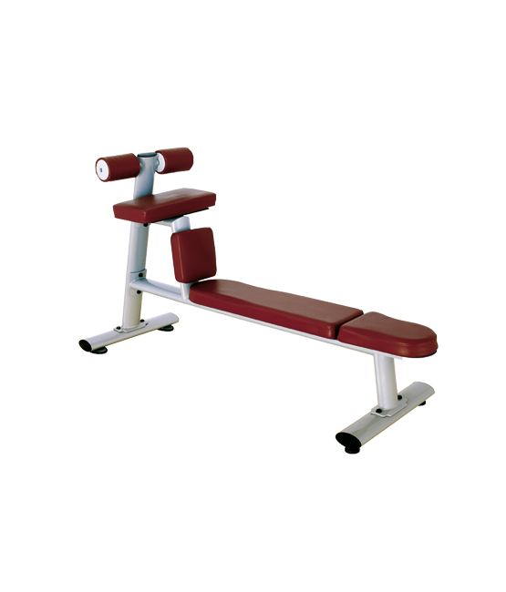 BRONZE GYM H-035 Скамья для скручиваний горизонтальная (КОРИЧНЕВЫЙ) №1