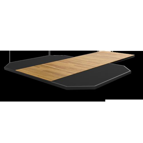 MATRIX MAGNUM MG-MR690P Платформа из спрессованной резины с деревянной вставкой №1