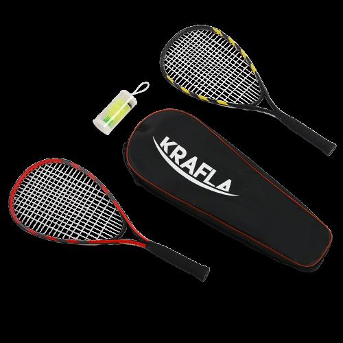 KRAFLA S-SP500 Набор для спидминтона: ракетка (2шт), волан (3шт), чехол №1