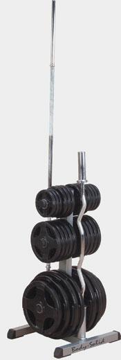 Подставка для олимпийских дисков и грифов--Body Solid GOWT №1